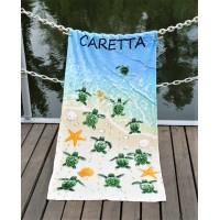Полотенце Lotus пляжное Caretta велюр