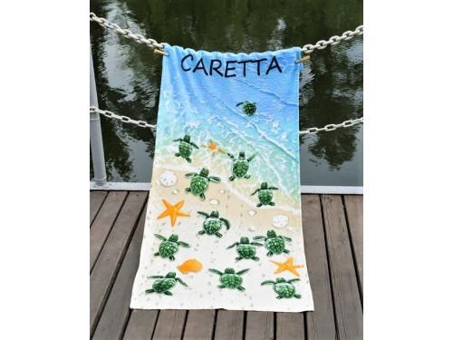 Полотенце Lotus пляжное Caretta велюр 2000022217255 от Lotus в интернет-магазине PannaTeks
