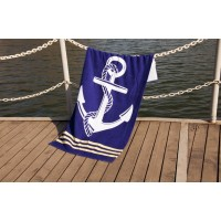 Полотенце Lotus пляжное Deep Sea велюр