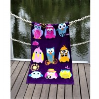 Полотенце Lotus пляжное Owls Family велюр