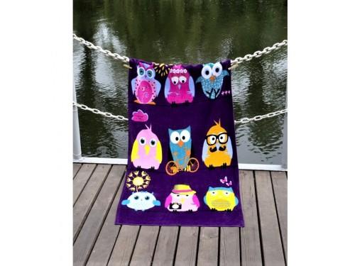 Полотенце Lotus пляжное Owls Family велюр 2000022217262 от Lotus в интернет-магазине PannaTeks