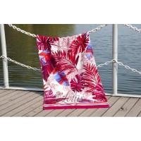 Полотенце Lotus пляжное Paradise Fusya велюр