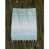Турецкое полотенце пештемаль для хамама и пляжа Green Micro stripe