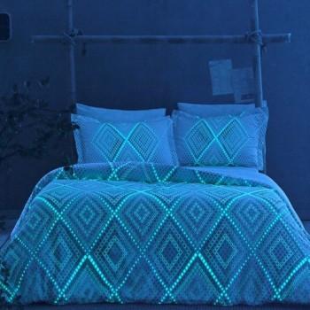Светящееся постельное белье Glow - Gina mavi голубой