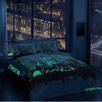 Светящееся постельное белье Glow - London gold золотой