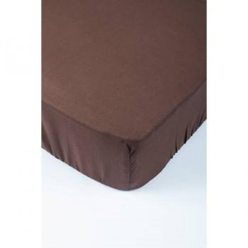 Простынь Lotus Premium - темно-коричневый