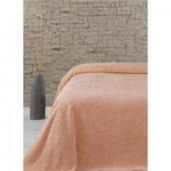 Турецкая махровая простынь полуторная Lotus - Sun оранжевая
