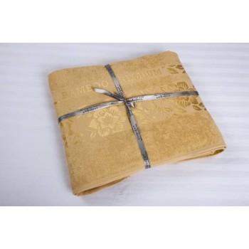 Махровая простынь покрывало Cestepe Bamboo золотой Турция