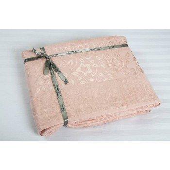 Махровая простынь покрывало Cestepe Bamboo розовая Турция