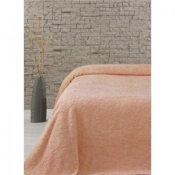 Простынь махровая Lotus - Sun оранжевый