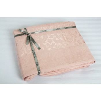 Простынь махровая Cestepe Bamboo розовая