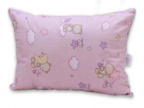 Детская подушка лебяжий пух Мишки розовые ПС-061 от TAG tekstil в интернет-магазине PannaTeks