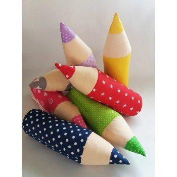 Детская декоративная подушка-валик Карандаш