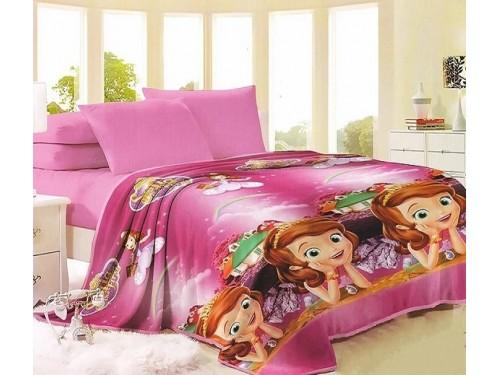 Детский плед микрофибра на кровать София прекрасная VL8122 от TAG tekstil в интернет-магазине PannaTeks