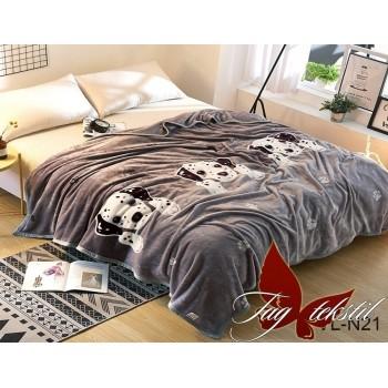 Детский плед велсофт на кровать Долматинец