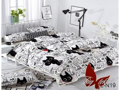 Детский плед велсофт на кровать Кот Рудольф ALM1907 от TAG tekstil в интернет-магазине PannaTeks