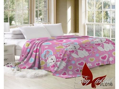 Детский плед для девочки велсофт Кошка Мэри JH-VL016 от TAG tekstil в интернет-магазине PannaTeks