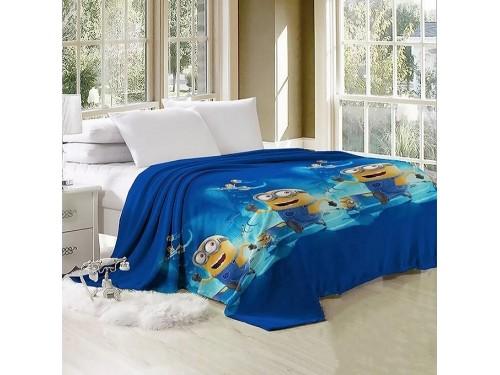 Плед детский на кровать микрофибра Миньоны JH-VL018 от TAG tekstil в интернет-магазине PannaTeks