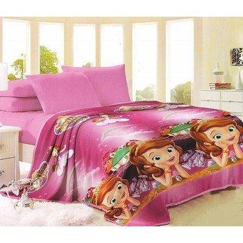 Детский плед микрофибра на кровать София прекрасная