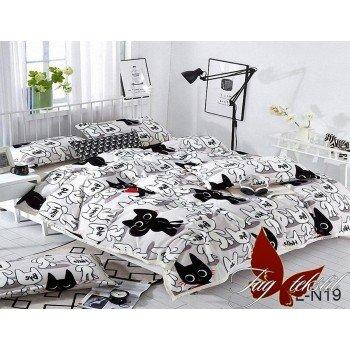 Детский плед велсофт на кровать Кот Рудольф