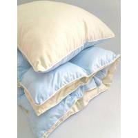 Детское одеяло и подушка в кроватку холлофайбер, голубой, KOP-003