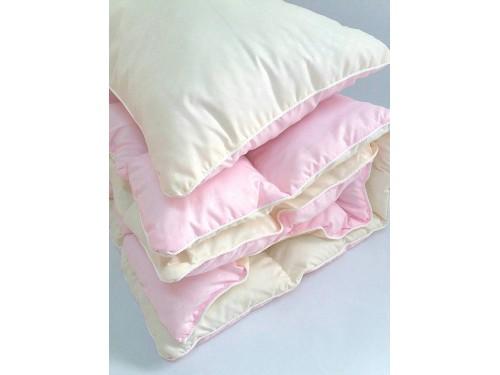 Детское одеяло и подушка в кроватку холлофайбер, розовый, KOP-002 KOP-002 от TAG tekstil в интернет-магазине PannaTeks