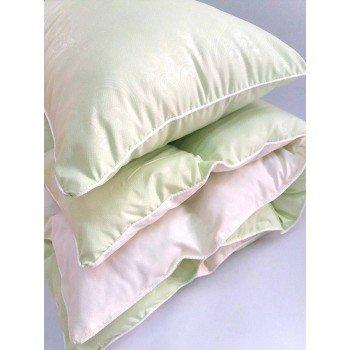 Детское одеяло и подушка в кроватку холлофайбер, салатовый, KOP-001