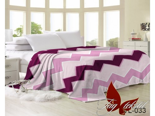 """Плед велсофт """"Розовый зигзаг"""" VL-033 от TAG tekstil в интернет-магазине PannaTeks"""