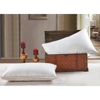 Антиаллергенная подушка из лебяжего пуха, белая, с бортом, ПС-033 фото 1