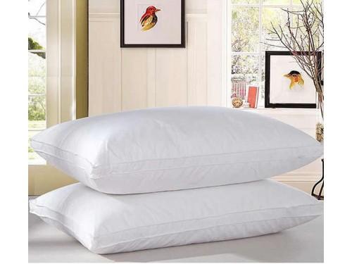 Антиаллергенная подушка из лебяжего пуха, белая, с бортом, ПС-033 ПС-033 от TAG tekstil в интернет-магазине PannaTeks