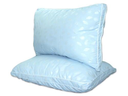 Подушка из лебяжего пуха с микрофиброй, антиаллергенная, голубая, с бортом, ПС-037 ПС-037 от TAG tekstil в интернет-магазине PannaTeks
