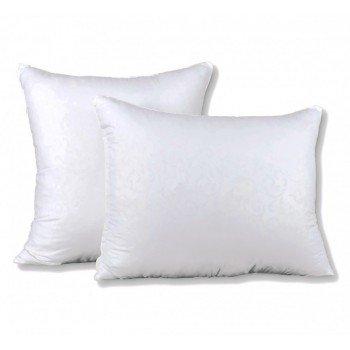 Подушка лебяжий пух/микрофибра, белая, антиаллергенная, ПС-013
