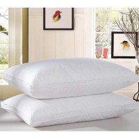 Антиаллергенная подушка из лебяжего пуха, белая, с бортом, ПС-033
