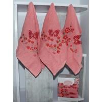 Набор полотенец для кухни Lovely персиковый