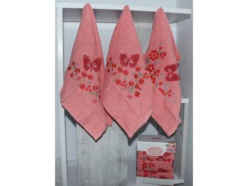 Набор полотенец для кухни Lovely персиковый KN 078 от TAG tekstil в интернет-магазине PannaTeks