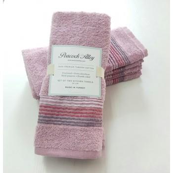 Набор полотенец для кухни розовый