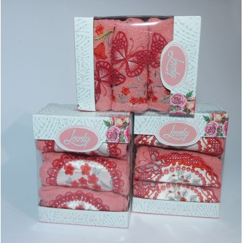 Набор полотенец для кухни Lovely персиковый фото 1