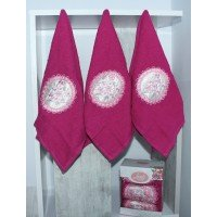 Набор полотенец для кухни Lovely розовый