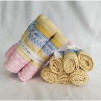 Набор полотенец для кухни желто-розовый