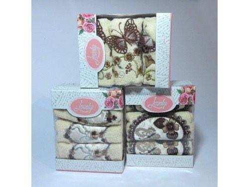 Набор полотенец для кухни Lovely бежевый KN 075 от TAG tekstil в интернет-магазине PannaTeks