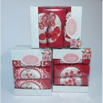 Набор полотенец для кухни Lovely красный фото 1