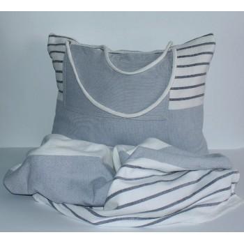 Пляжное полотенце-трансформер №1