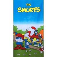 Полотенце пляжное Smurfs
