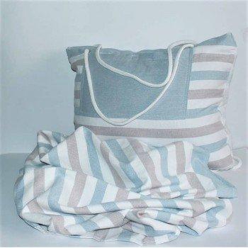 Пляжное полотенце-трансформер Серо-Розовое