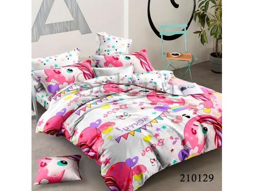 Детское постельное белье для девочки ранфорс Единорожки Pink 210129 от Selena в интернет-магазине PannaTeks