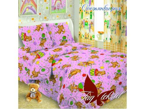 Детское постельное белье поплин Обезьянки розовые Обезьянки роз. от TAG tekstil в интернет-магазине PannaTeks