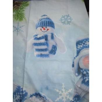 Подростковое постельное белье поплин Снеговики фото 4