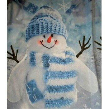 Подростковое постельное белье поплин Снеговики фото 1