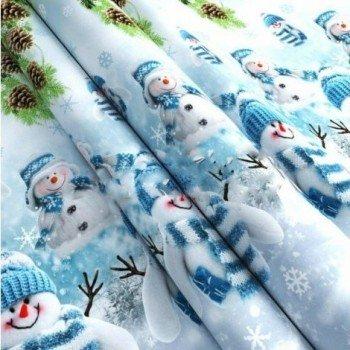 Подростковое постельное белье поплин Снеговики фото 3