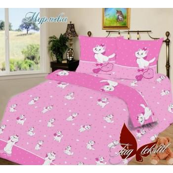 Подростковое постельное белье ранфорс с котятами Мурлыка
